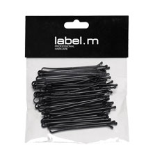 label.m Kirby Grip Straight Black 70mm (Pack of 40)