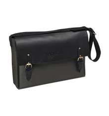 label.m Grey & Black Leather Stylist Bag