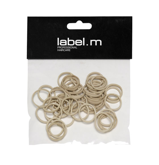 label.m No Pull Braiding Bands Beige 15mm (Pack of 50)