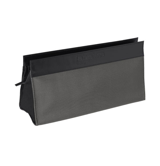 label.m Grey & Black Leather Tool Bag
