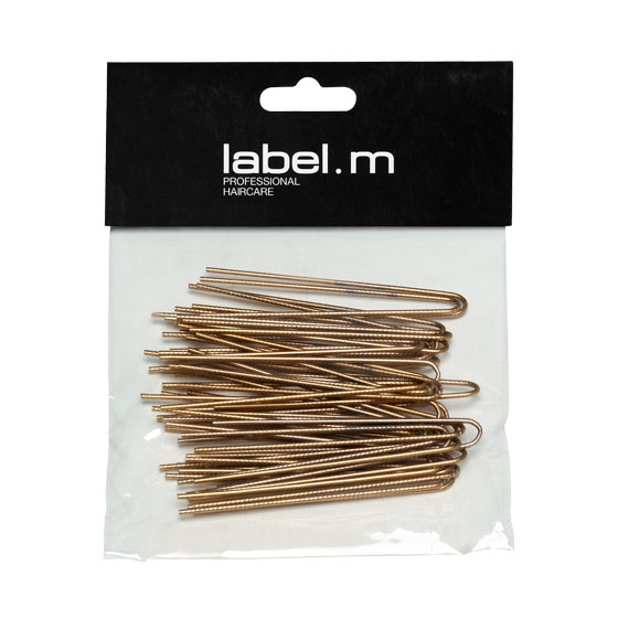 label.m Twisted U-Pin Gold 70mm (Pack of 40)
