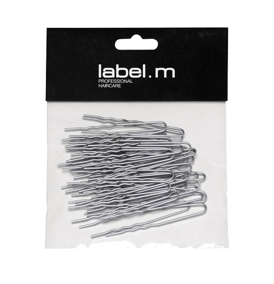 label.m U-Pin Wavy Silver 60mm (Pack of 40)